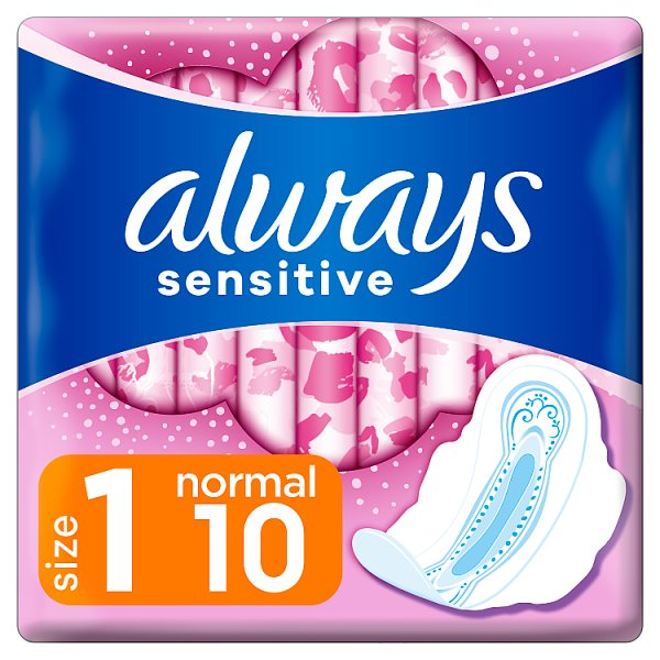 Always Ultra Sensitive Normal Plus (rozmiar 1) Podpaski ze skrzydełkami, 10