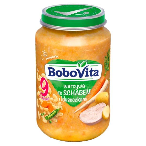 BoboVita Warzywa ze schabem i kluseczkami po 9 miesiącu 190 g