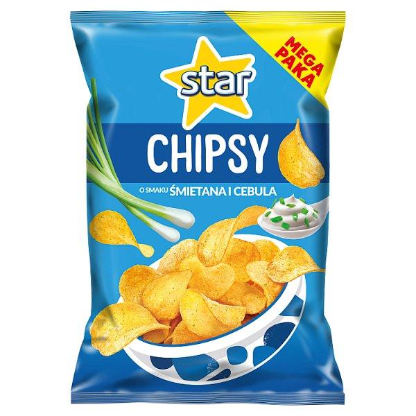 Star Chipsy o smaku śmietana i cebula 220 g
