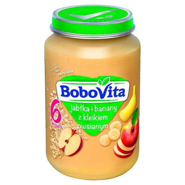 BoboVita Jabłka i banany z kleikiem owsianym po 6 miesiącu 190 g