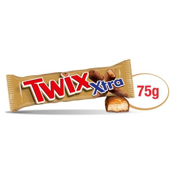 Twix Xtra Baton z ciastkami i karmelem oblany czekoladą 75 g (2 x 37,5 g)