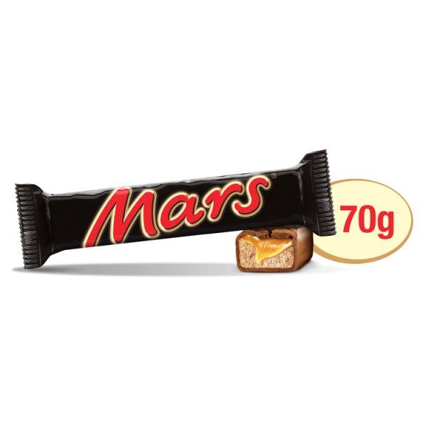 Mars Baton z nugatowym nadzieniem oblany karmelem i czekoladą 70 g (2 sztuki)