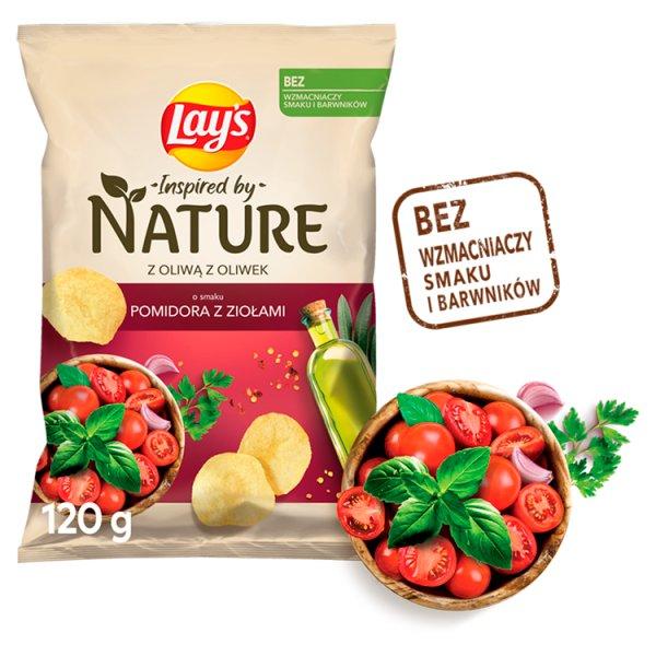 Lay's Inspired by Nature Chipsy ziemniaczane o smaku pomidora z ziołami 120 g