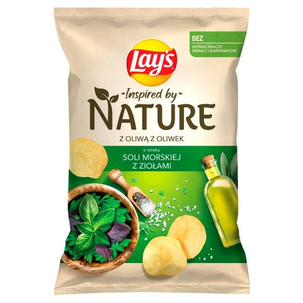 Lay's Inspired by Nature Chipsy ziemniaczane o smaku soli morskiej z ziołami 120 g
