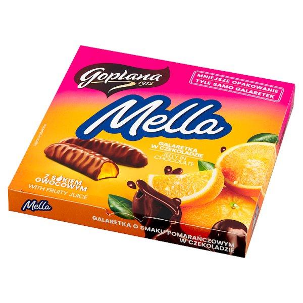 Goplana Mella Galaretka w czekoladzie o smaku pomarańczowym 190 g