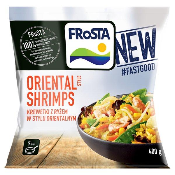 FRoSTA Oriental Style Shrimps Krewetki z ryżem w stylu orientalnym 400 g
