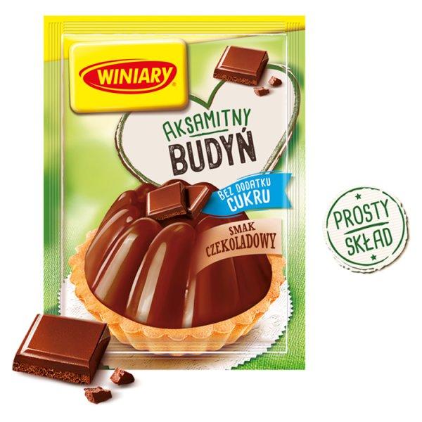 Winiary Budyń bez dodatku cukru smak czekoladowy 38 g