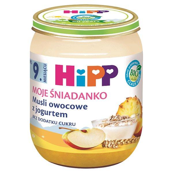 HiPP BIO Moje Śniadanko Musli owocowe z jogurtem po 9. miesiącu 160 g