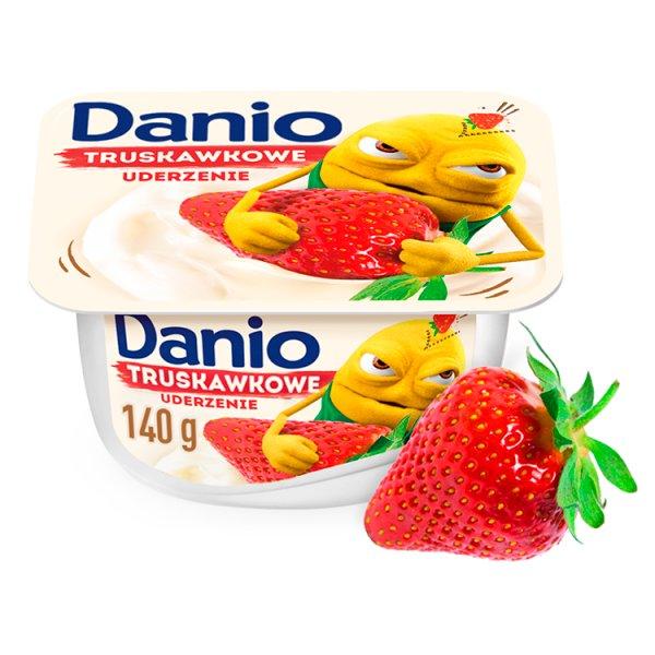 Danio Serek homogenizowany truskawkowy 140 g