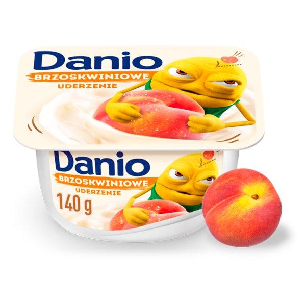 Danio Serek homogenizowany brzoskwiniowy 140 g