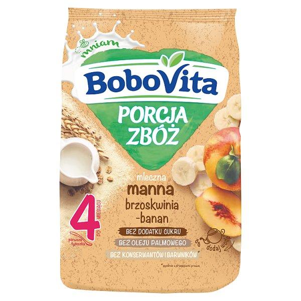 BoboVita Porcja zbóż Kaszka mleczna manna brzoskwinia-banan po 4 miesiącu 210 g