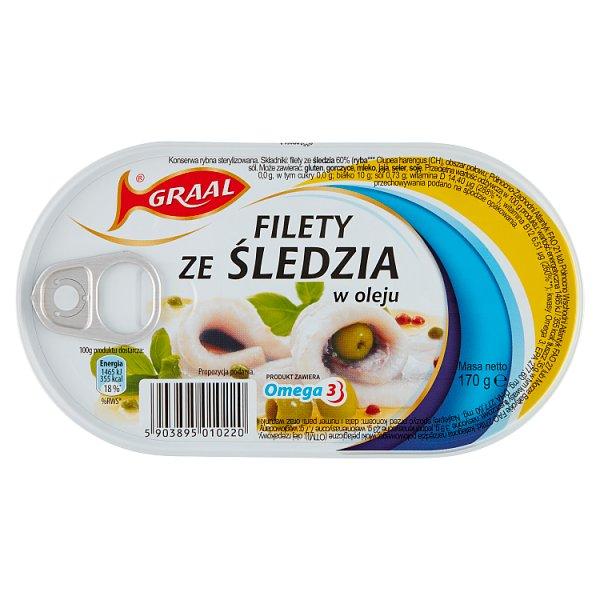 Graal Filety ze śledzia w oleju 170 g