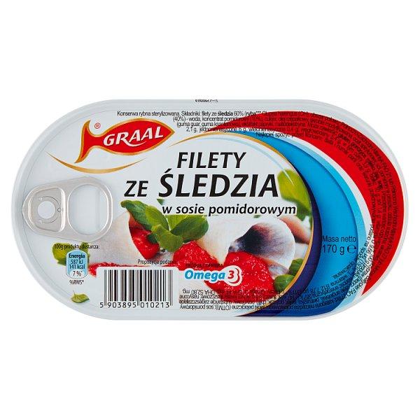 Graal Filety ze śledzia w sosie pomidorowym 170 g