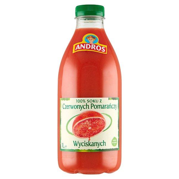 Andros 100 % sok z czerwonych pomarańczy wyciskanych 1 l