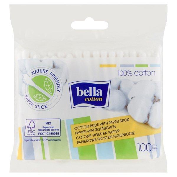 Bella Cotton Papierowe patyczki higieniczne 100 sztuk