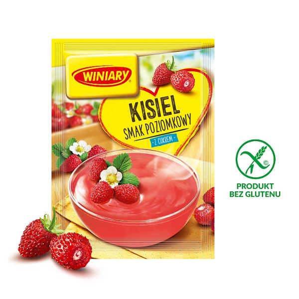 Winiary Kisiel z cukrem smak poziomkowy 77 g