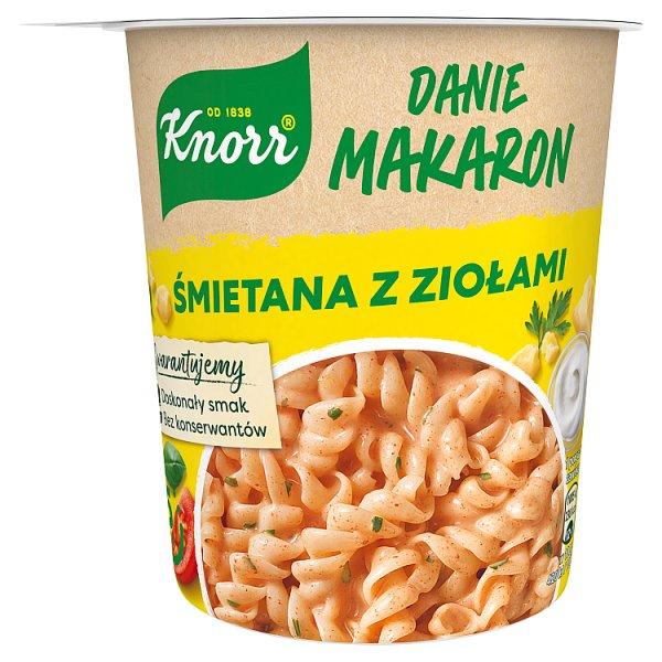 Knorr Danie makaron śmietana z ziołami 59 g