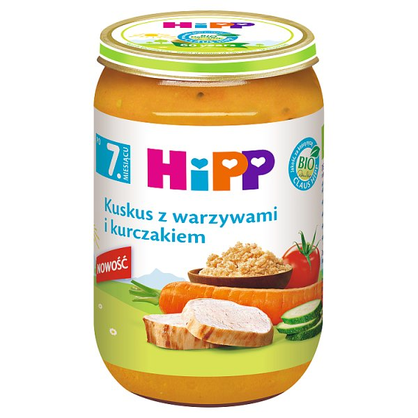 HiPP BIO Kuskus z warzywami i kurczakiem po 7. miesiącu 220 g