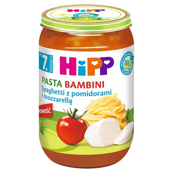 HiPP BIO Pasta Bambini Spaghetti z pomidorami i mozzarellą po 7. miesiącu 220 g