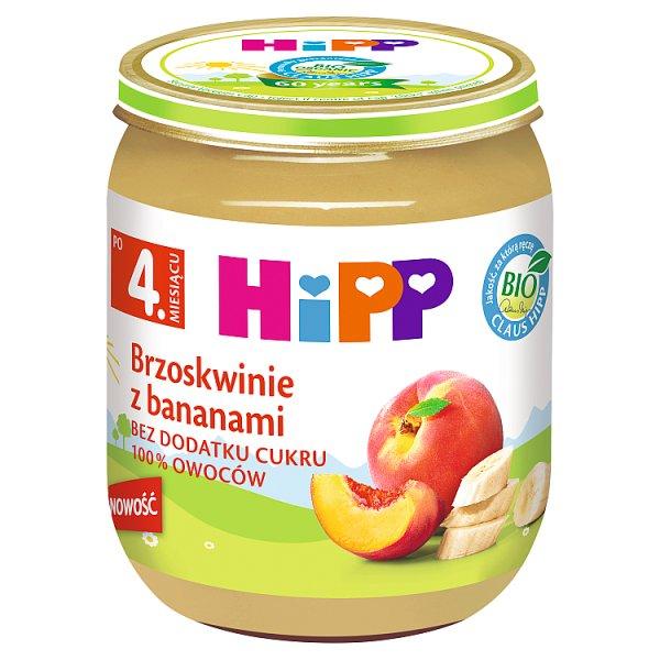 HiPP BIO Brzoskwinie z bananami po 4. miesiącu 125 g