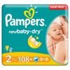 Pieluszki Pampers New Baby Rozmiar 2, 108 sztuk, 3-6kg