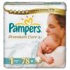 Pieluszki Pampers Premium Care, rozmiar 1. 78 szt, 2-5kg