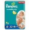 Pieluszki Pampers Active Baby-Dry Rozmiar 4, 82 sztuki, 7-14kg