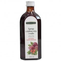 Syrop premium rosa z dzikiej róży i malin