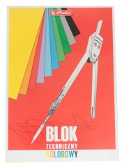 Blok techniczny kolorowy A4 10 arkuszy