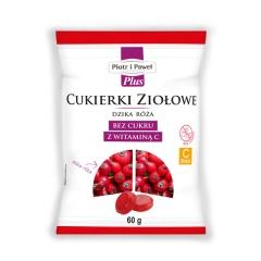 Cukierki ziołowe dzika róża, bez cukru z witaminą C