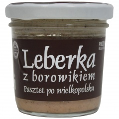 Leberka z borowikiem