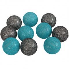 Cotton ball turkusowo - czarne 10 szt.