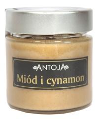 Miód kremowany i cynamon mielony