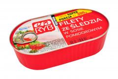 Filety śledź.era ryb w sosie pomidorowym