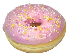 Donut w różowej polewie - Vandemoortele