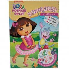 """"""" Dora poznaje świat """" ubieranki z naklejkami"""