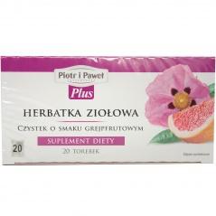 Herbatka ziołowa czystek o smaku grejpfrutowym 20x1,5g