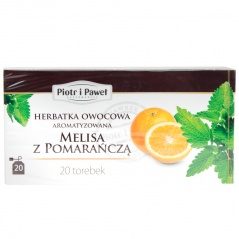 Herbata owocowa o smaku Melisy z Pomarańczą Piotr i Paweł