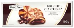 Kruche ciasteczka z nadzieniem czekoladowym