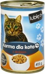 Karma mokra dla kota z drobiem - lubię:)