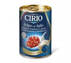 Pomidory w kawalkach z czosnkiem cirio