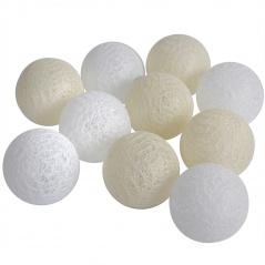 Cotton ball żółto-białe 10 szt