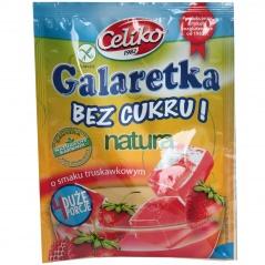 Galaretka bez cukru o smaku truskawkowym