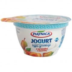 Jogurt Piątnica typu greckiego z gruszką i jabłkiem