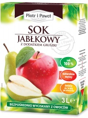 Sok jabłkowo-gruszkowy Piotr i Paweł