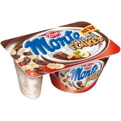 Deser mleczny Monte choco flakes,waffle sticks