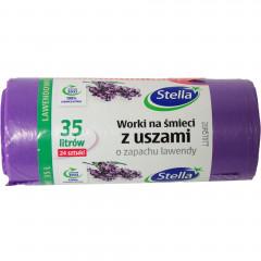 Worki na śmieci z uszami lavenda 35l