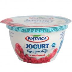 Jogurt Piątnica typu greckiego z malinami