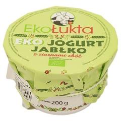 Jogurt bio jabłko z ziarnami zbóż Eko EkoŁukta