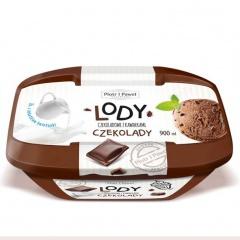 Lody czekoladowe z kawałkami czekolady